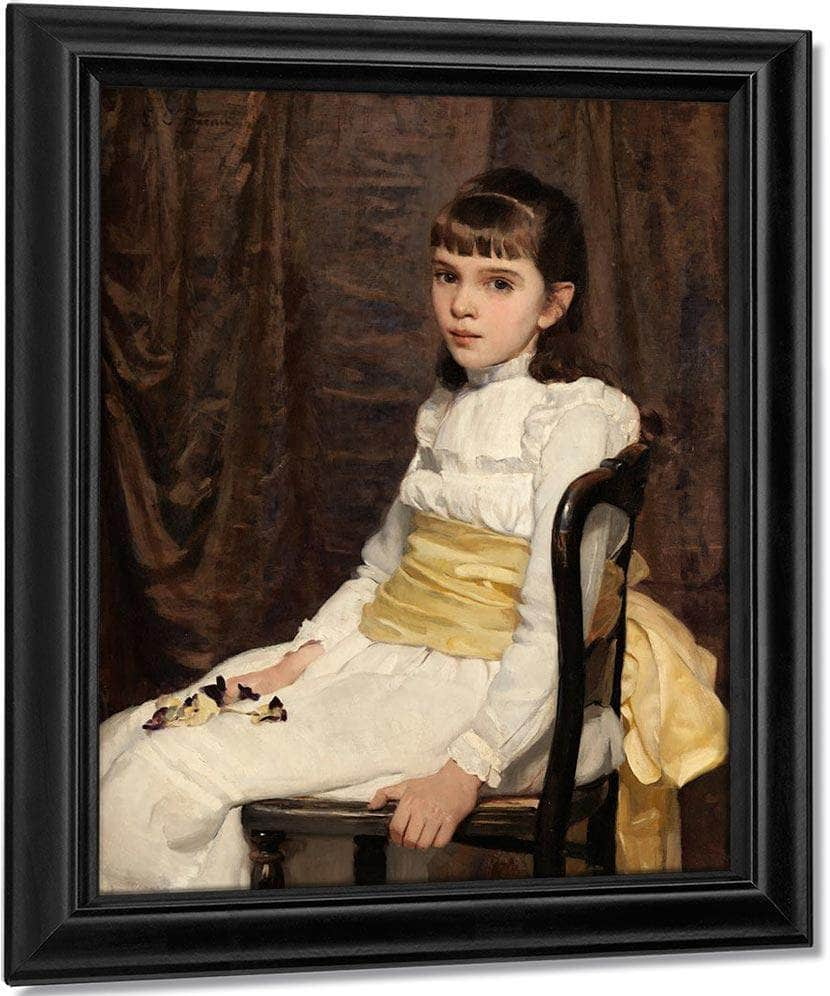 Little Girl 1887 By Cecilia Beaux