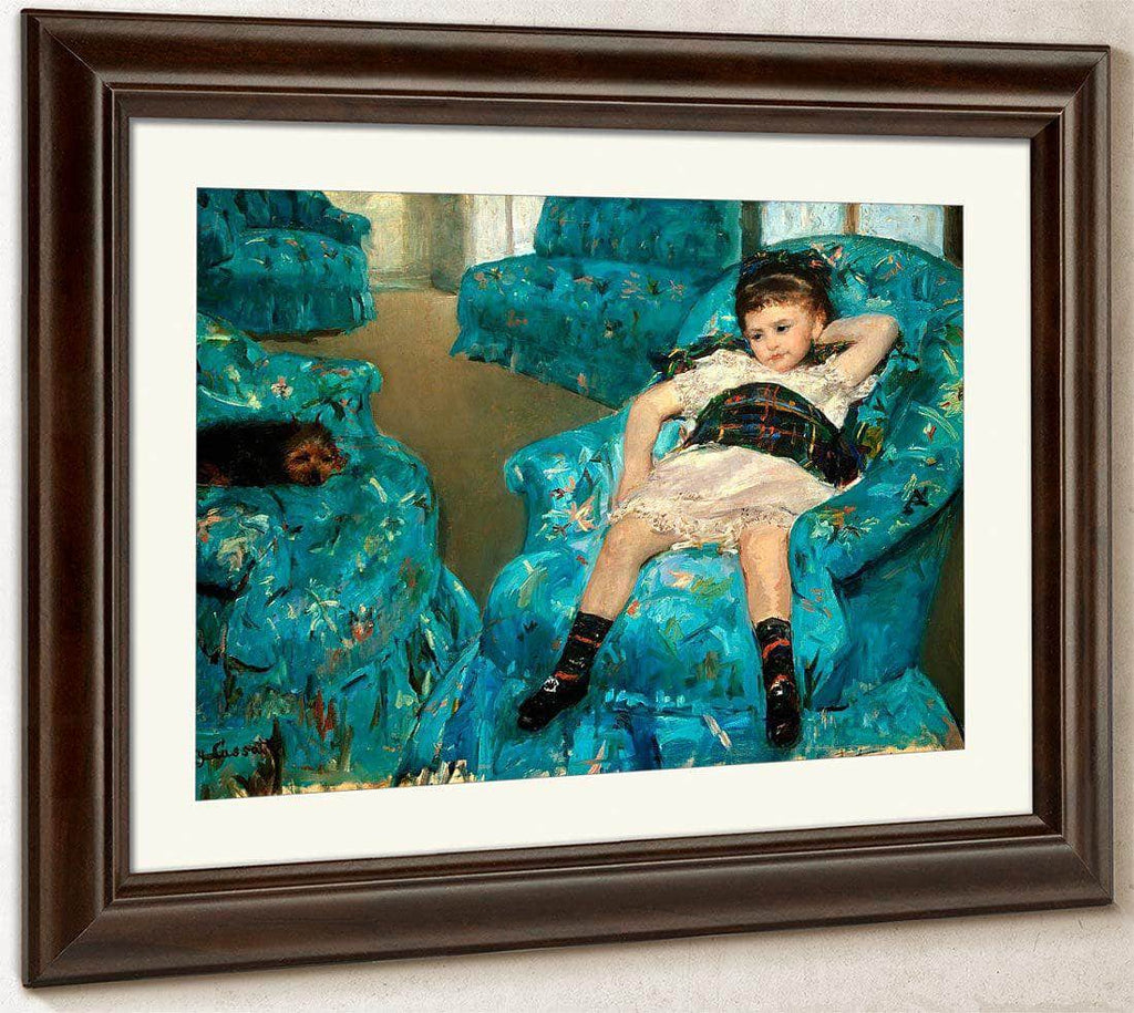 Little Girl In A Blue Armchair By Cassatt Mary