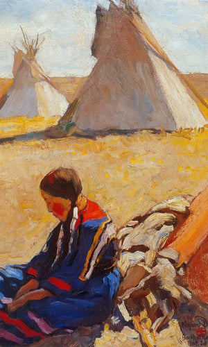 Little Sister By Maynard Dixon