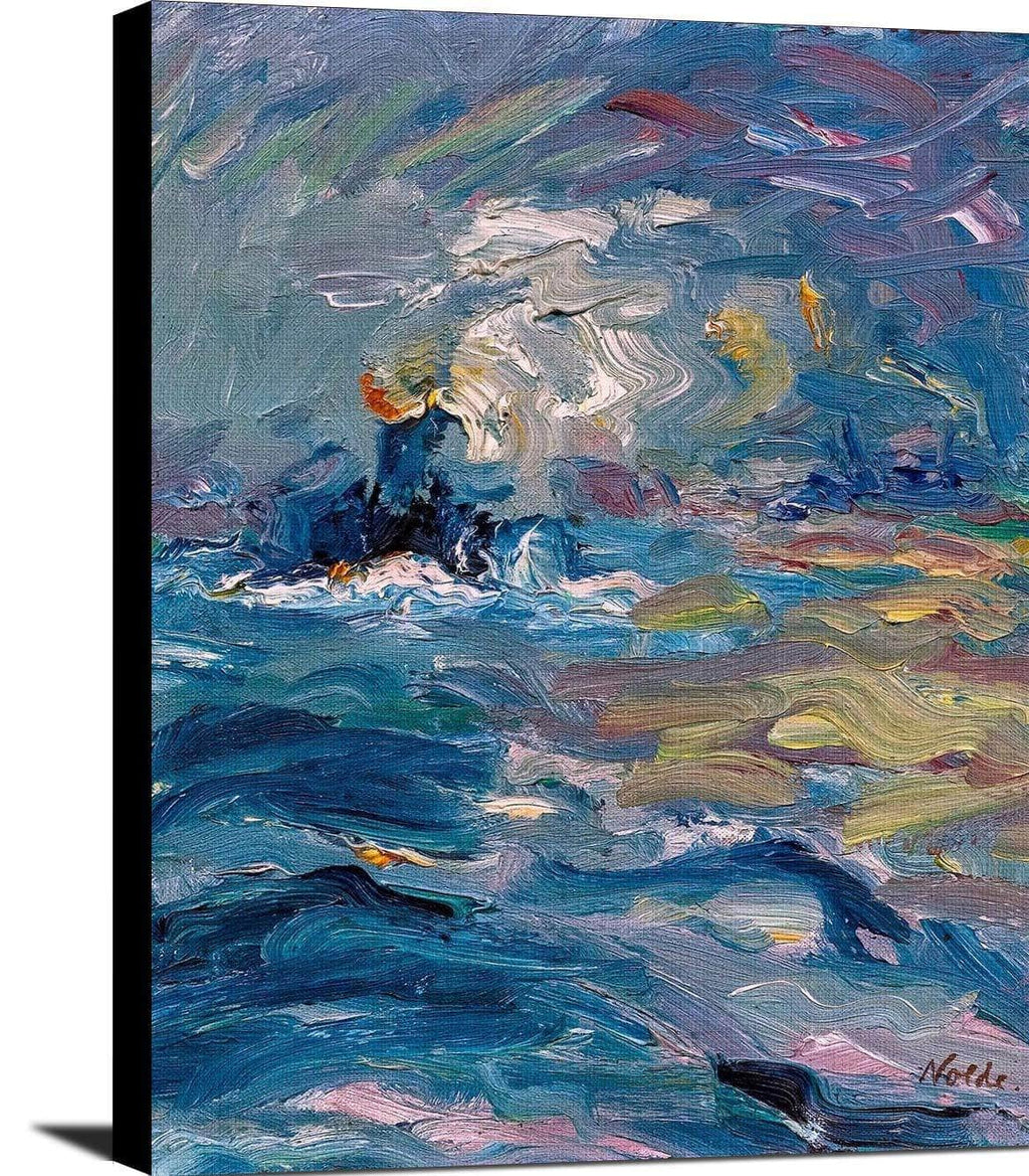 Little Steamer Painting Emil Nolde Canvas Art