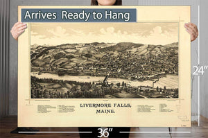 Livermore Falls Maine Vintage Map