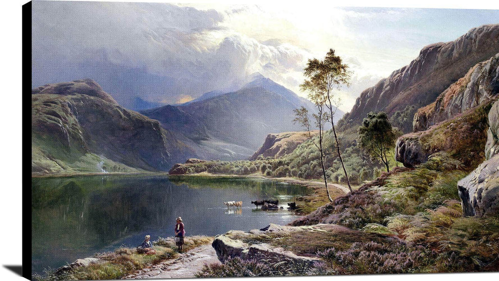 Llyn Y Ddinas, North Wales Painting Sidney Richard Percy Canvas Art