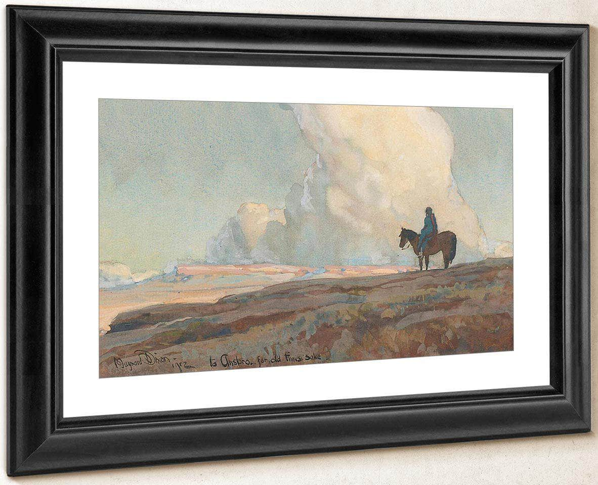 Lone Indian Gazing Across The Plains Print Canvas Art Framed Print Truly Art