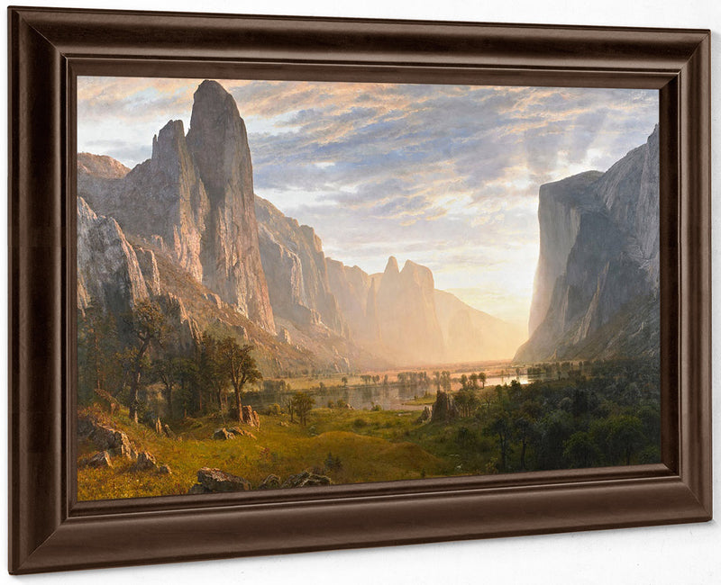 Looking Down Yosemite Valley California 1865 By Albert Bierstadt