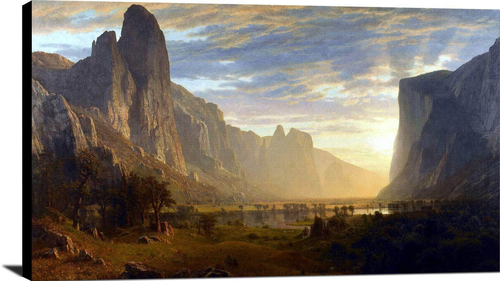 Looking Down Yosemite Valley Painting Albert Bierstadt Canvas Art