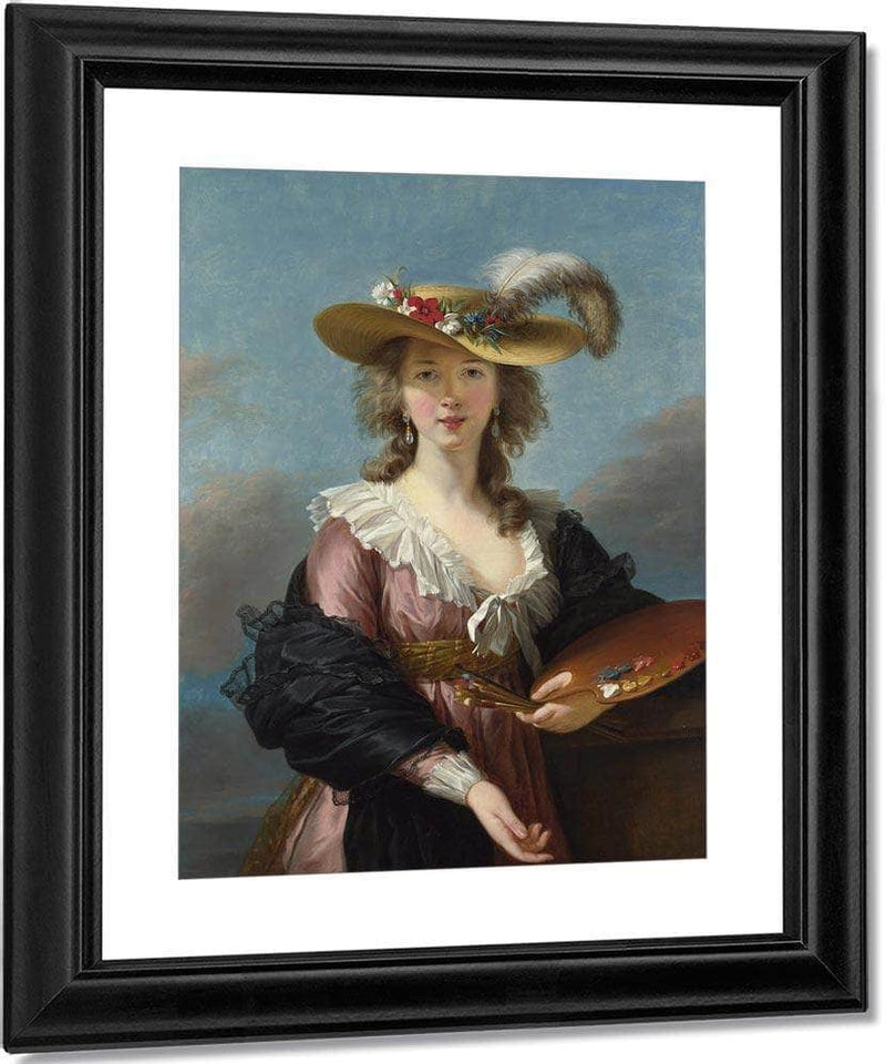 Louise Self Portrait In A Straw Hat 1782 By Elisabeth Vigee Le Brun