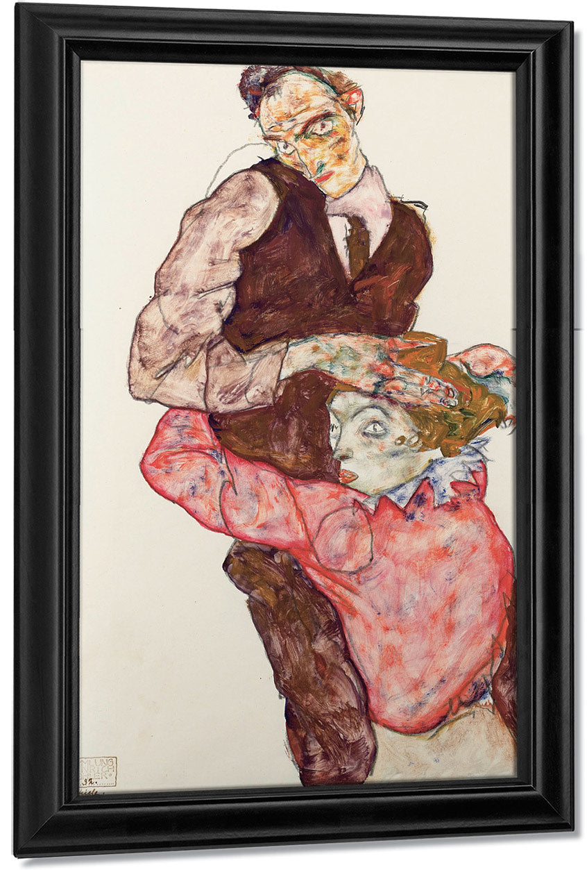 Lovers Self Portrait With Wally 1914 By Egon Schiele