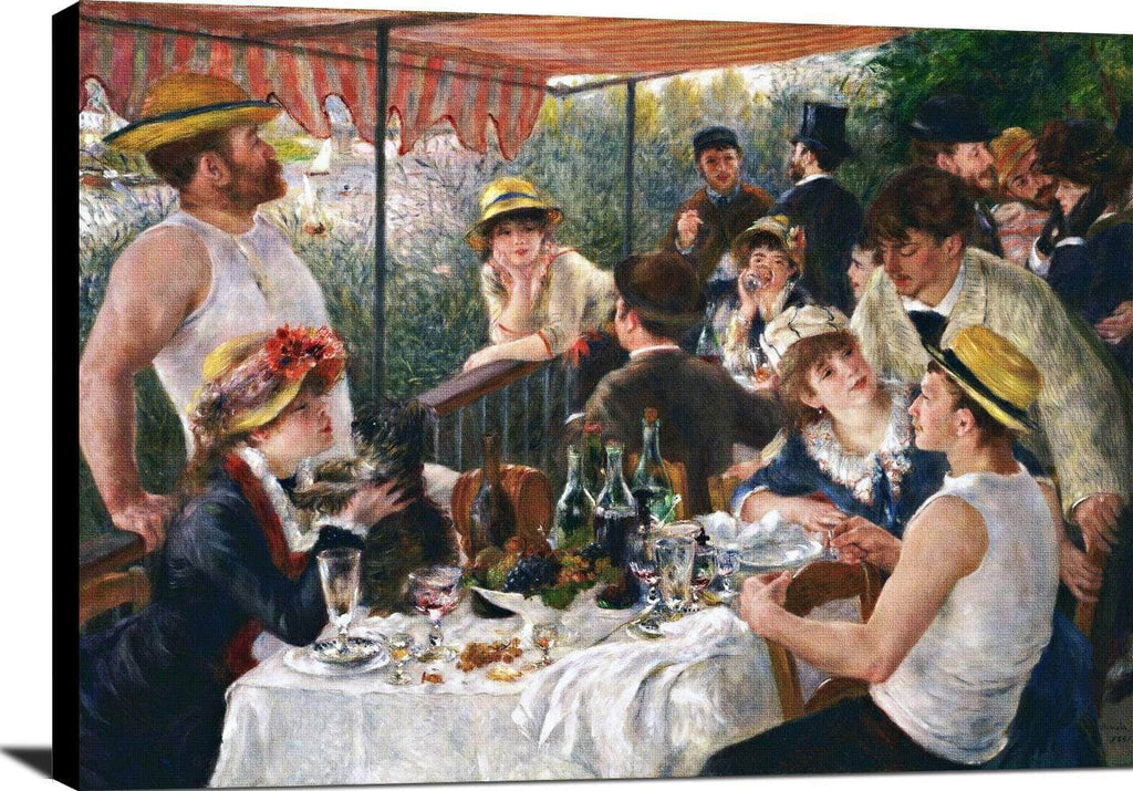 Luncheon Of The Boating Party Painting Auguste Renoir Canvas Art