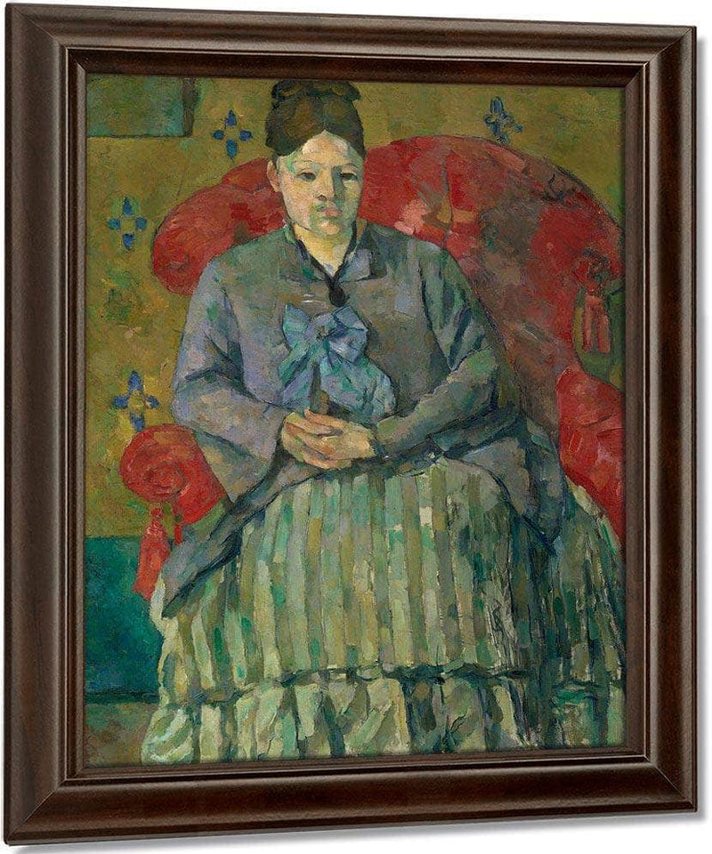 Madame Cezanne In A Red Armchair By Cezanne Paul