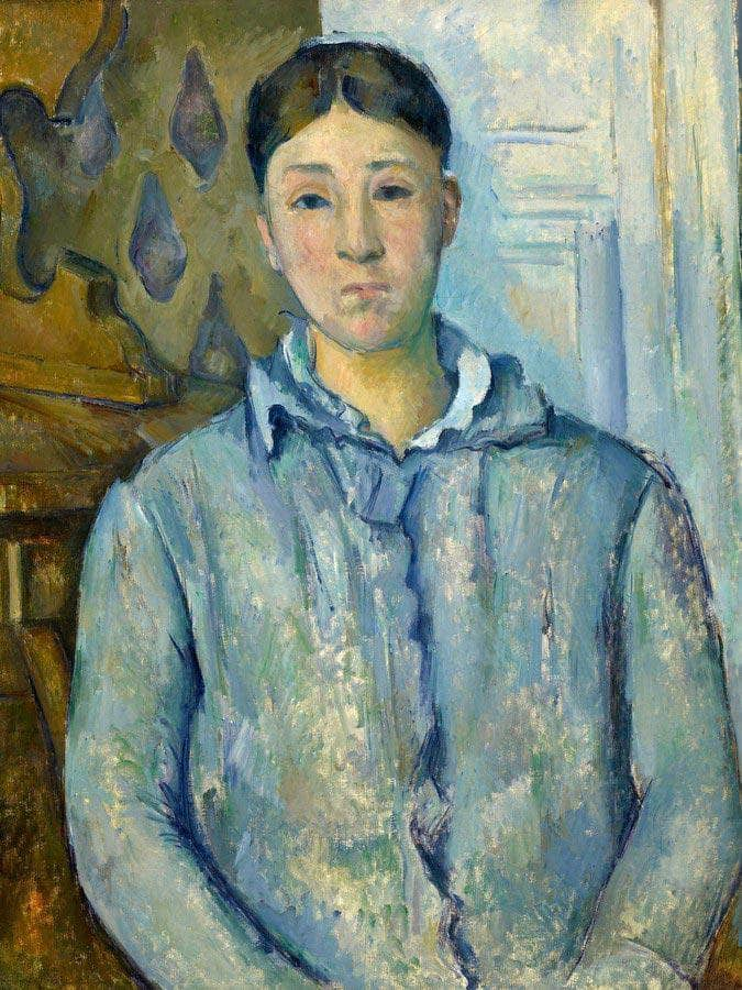 Madame Cezanne In Blue By Cezanne Paul