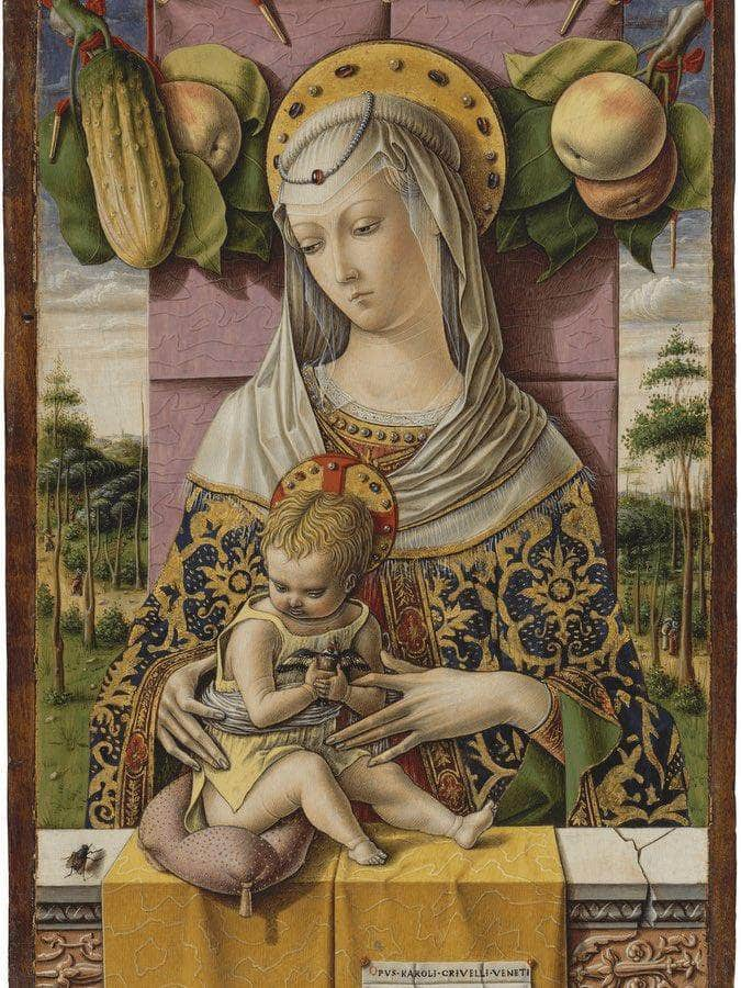 Madonna And Child 1480 By Carlo Crivelli