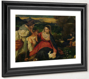 Madonna And Child With St. Catherine (The Virgin Of The Rabbit) By Titian