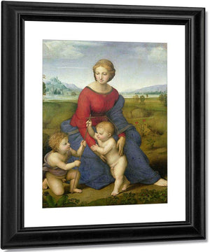 Madonna In The Meadow By Raphael