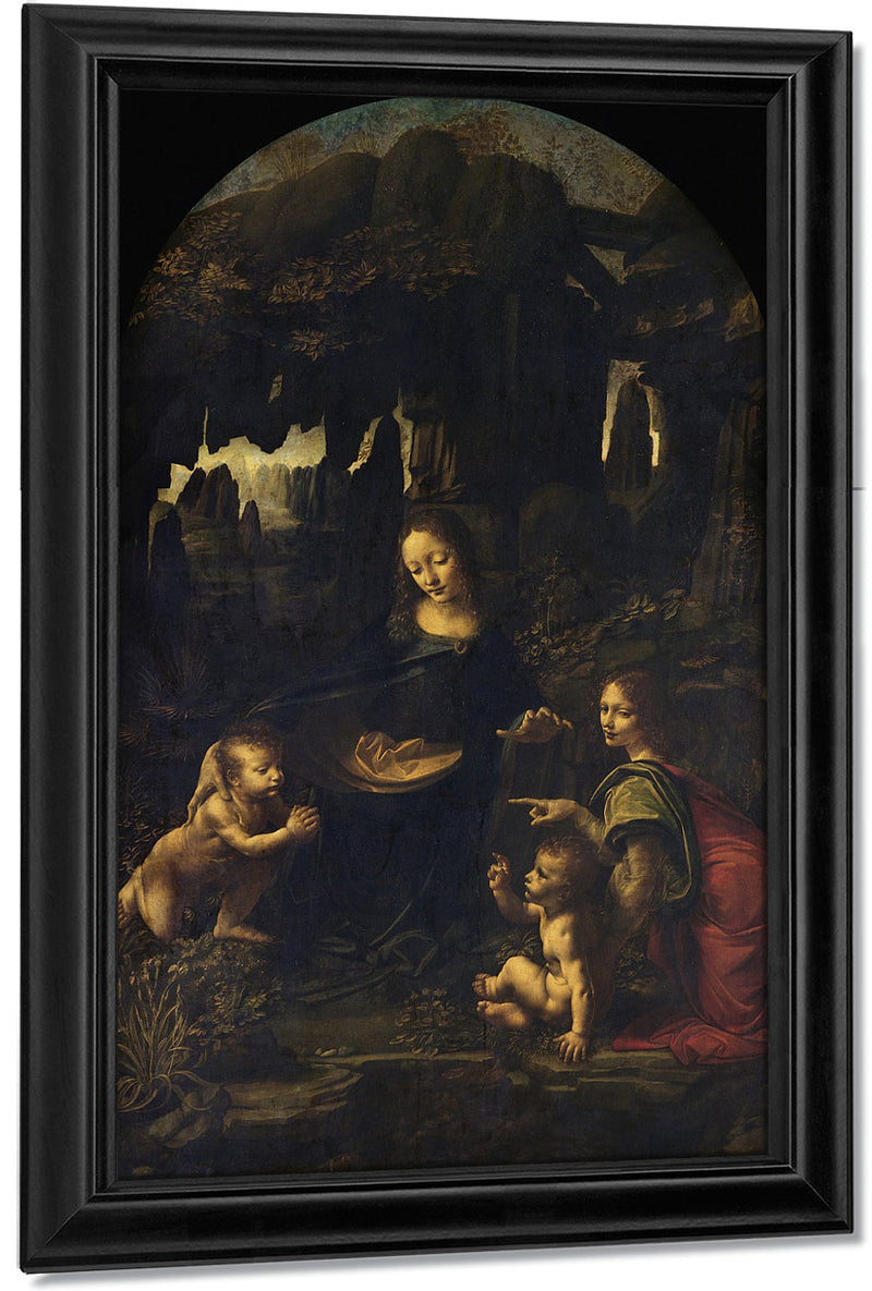 Madonna Of The Rocks By Leonardo Da Vinci