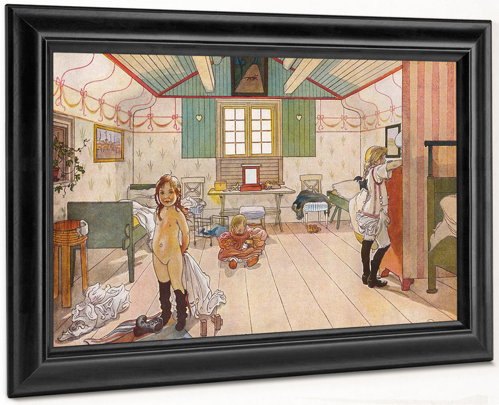 Mamma's And The Small Girls' Room By Carl Larsson