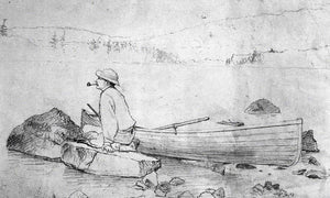 Man And Fishing Boat (Adirondacks) By Winslow Homer