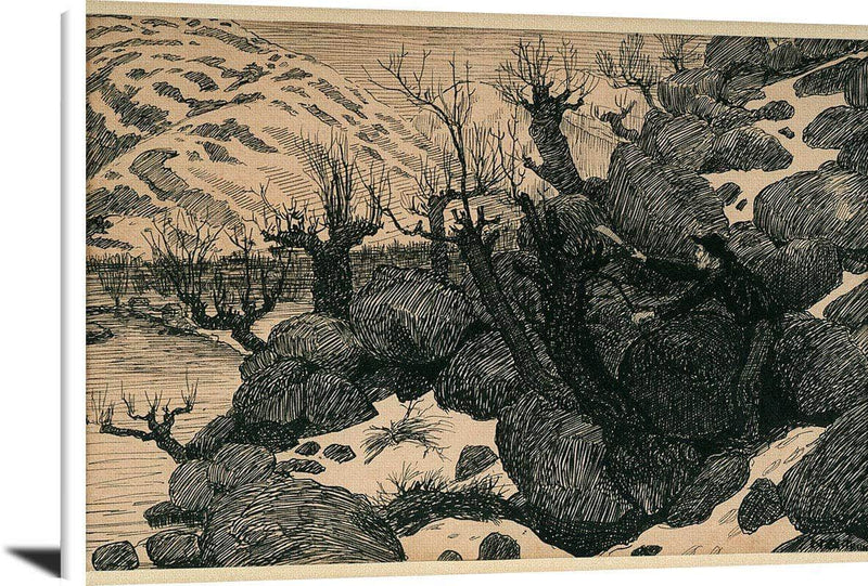 Man Cutting Branches From Sallow Nicolai Astrup