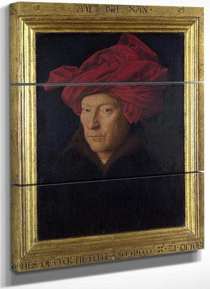 Man In A Red Turban (Formerly Self Portrait) By Jan Van Eyck