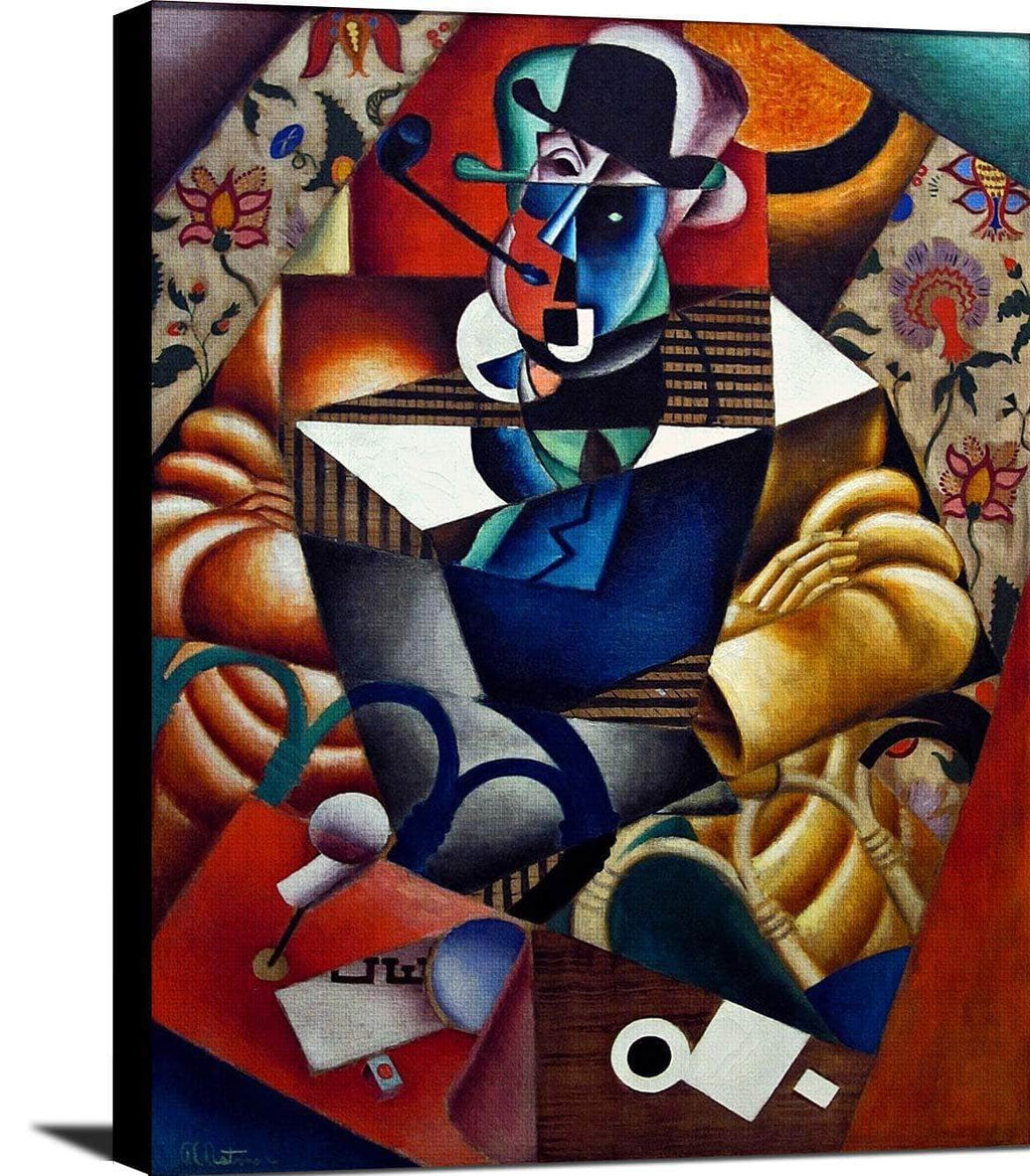 Man With A Pipe Painting Jean Metzinger Canvas Art