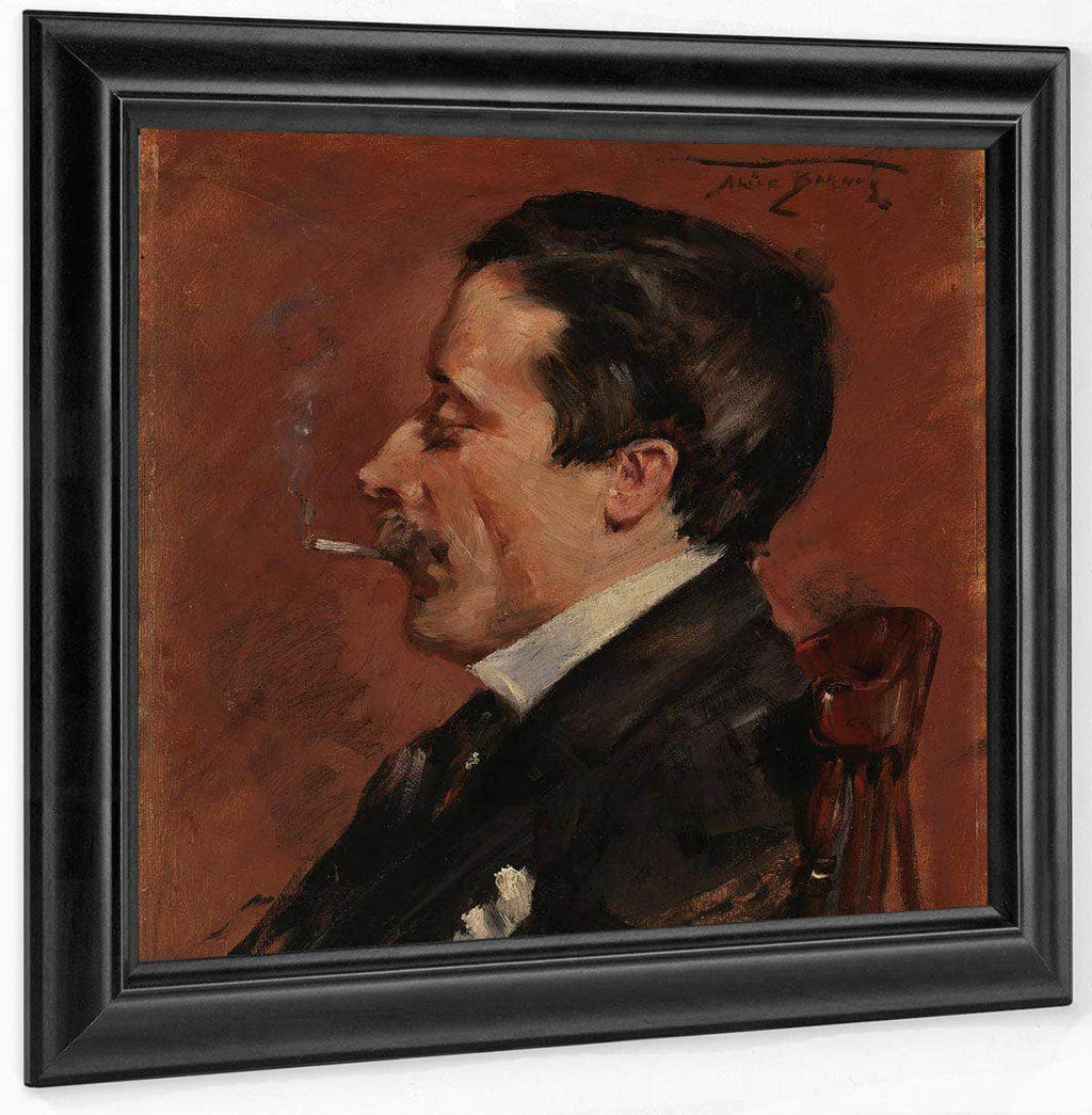 Man With Cigarette By Alice Pike Barney