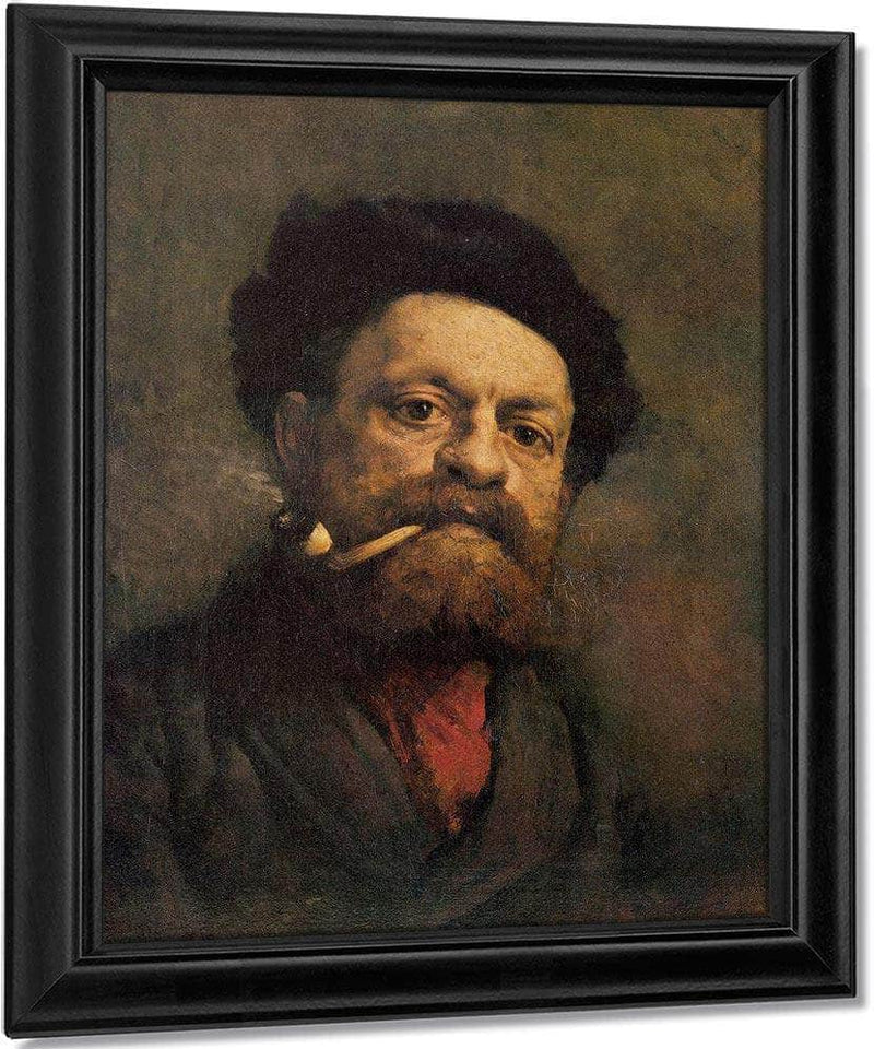 Man With Pipe By Gustave Courbet