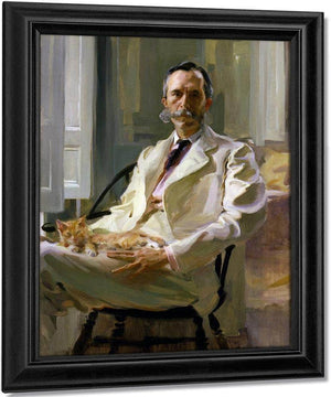 Man With The Cat Portrait Of Henry Sturgis Drinker 1898 By Cecilia Beaux