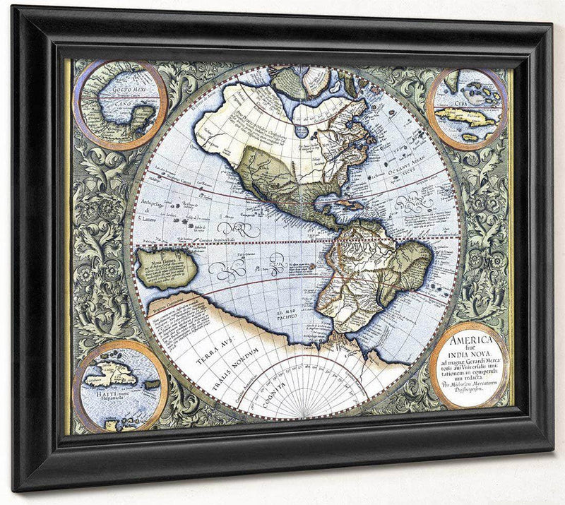 Map Of The Americas By Gerardus Mercator