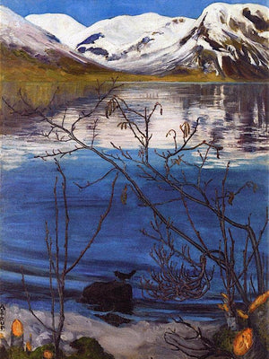 March Atmosphere At Jølstravatnet Nicolai Astrup
