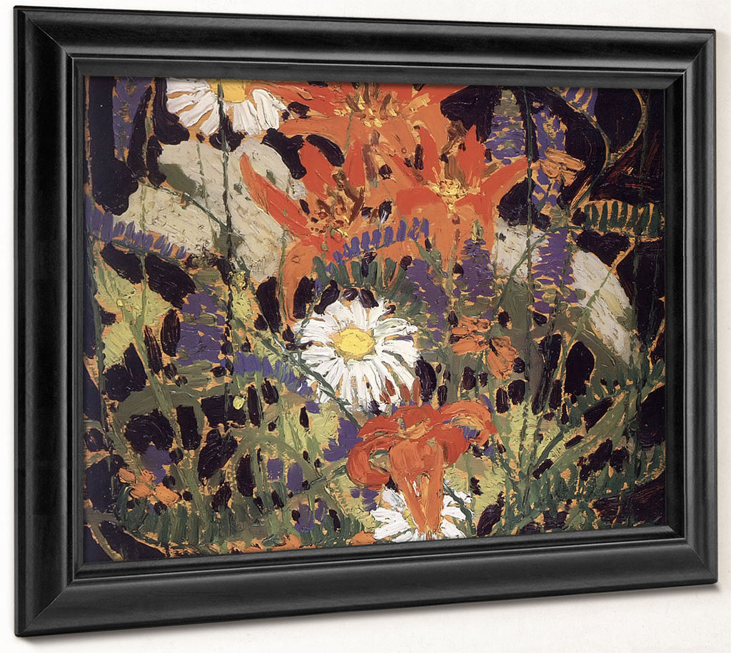 Marguerites Wood Lilies And Vetch By Tom Thomson
