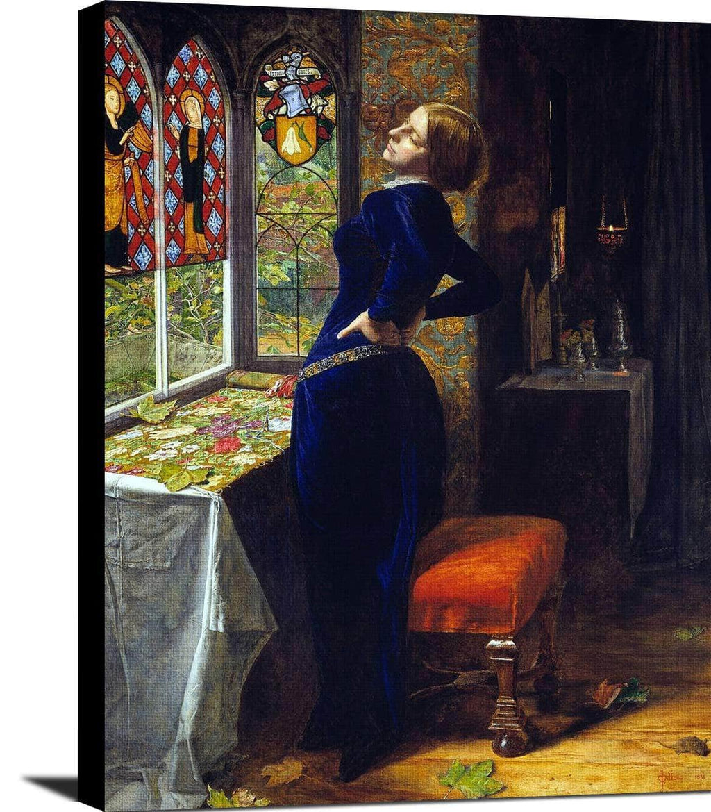 Mariana Painting John Everett Millais Canvas Art