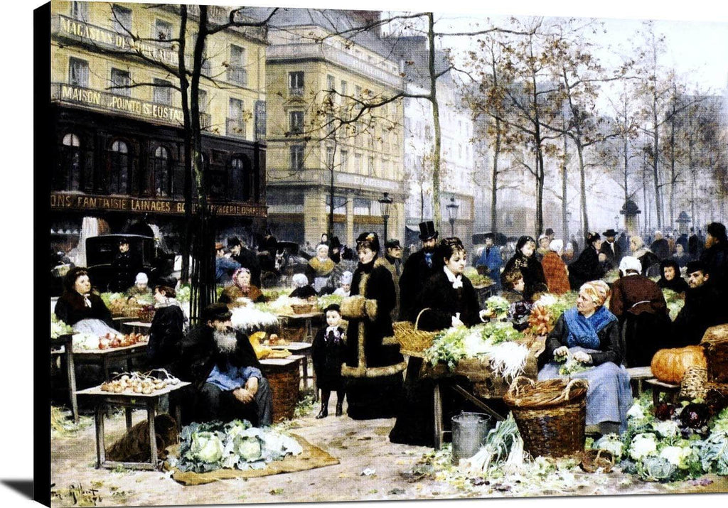 Market Day Painting Victor Gabriel Gilbert Canvas Art