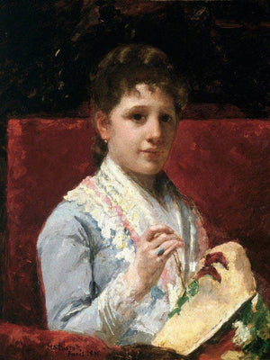 Mary Ellison Embroidering By Cassatt Mary