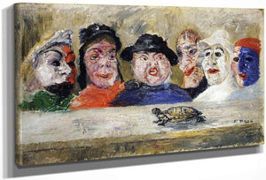 Masks Watching A Turtle By James Ensor