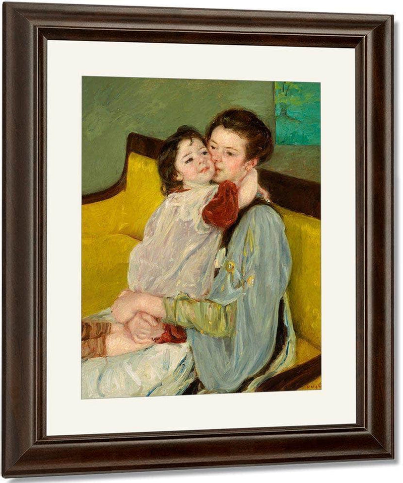 Maternal Caress (Caresse Maternelle) By Cassatt Mary