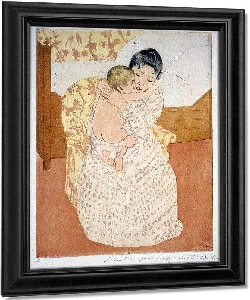Maternal Caress By Cassatt Mary