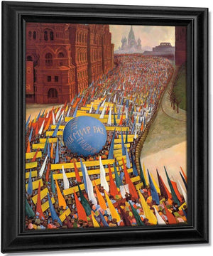 May Day Procession In Moscow By Diego Rivera