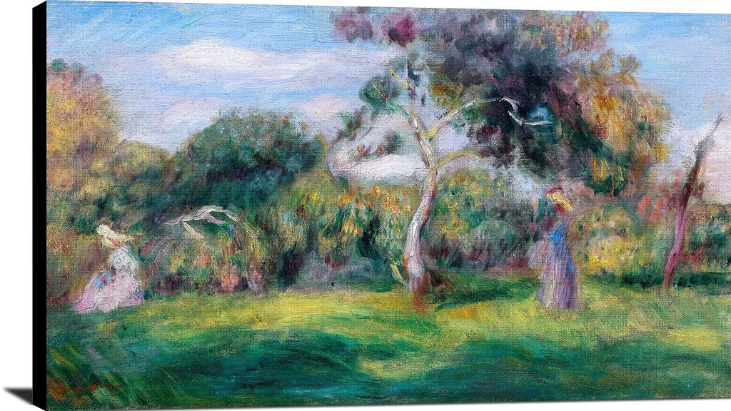 Meadow, Trees And Women Painting Auguste Renoir Canvas Art