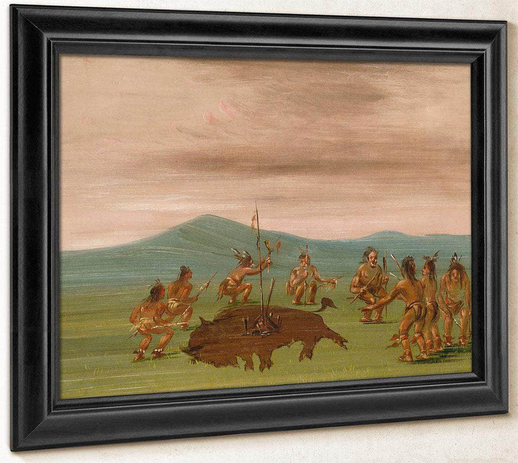 Medicine Buffalo Of The Sioux By George Catlin