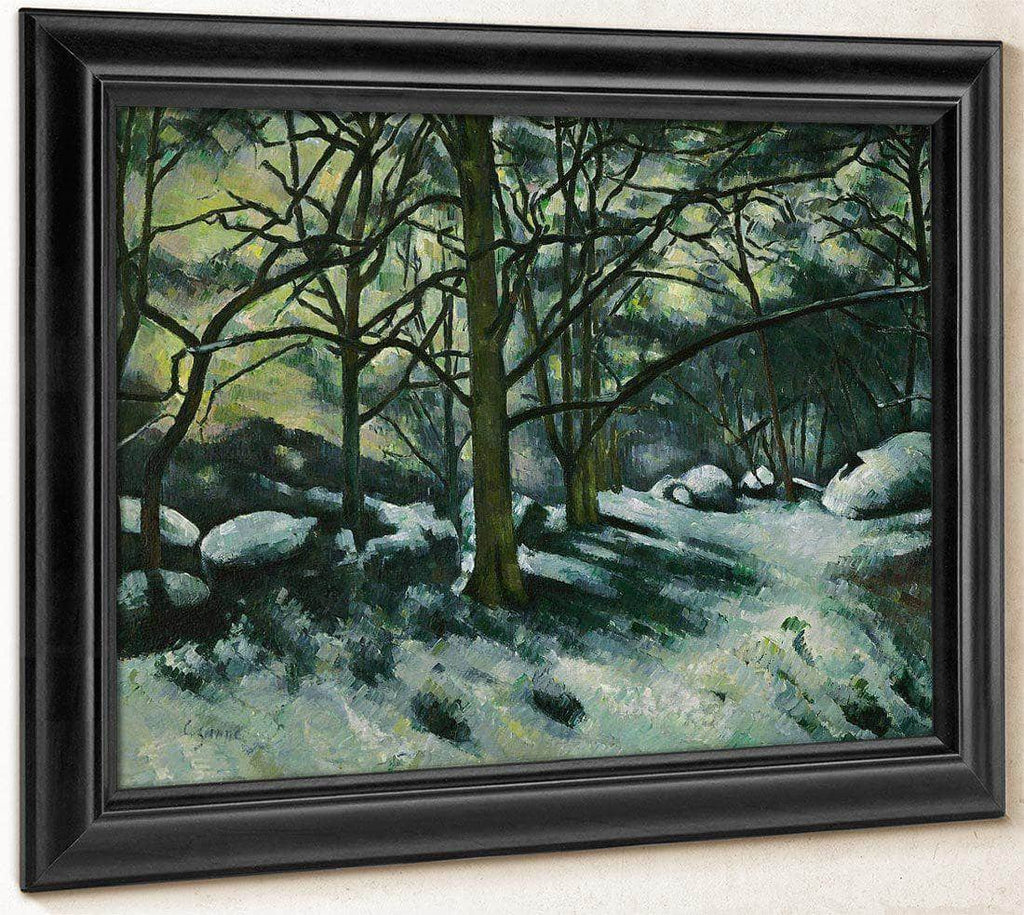 Melting Snow Fontainebleau By Cezanne Paul