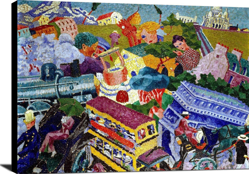 Memories Of A Journey Painting Gino Severini Canvas Art