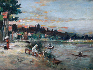 Memory Of The Banks Of Loise 1863 By Berthe Morisot