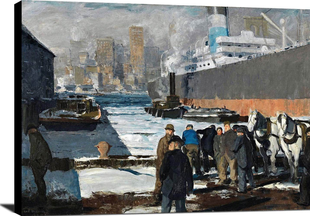 Men Of The Docks Painting George Wesley Bellows Canvas Art