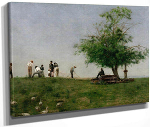 Mending The Net By Thomas Eakins