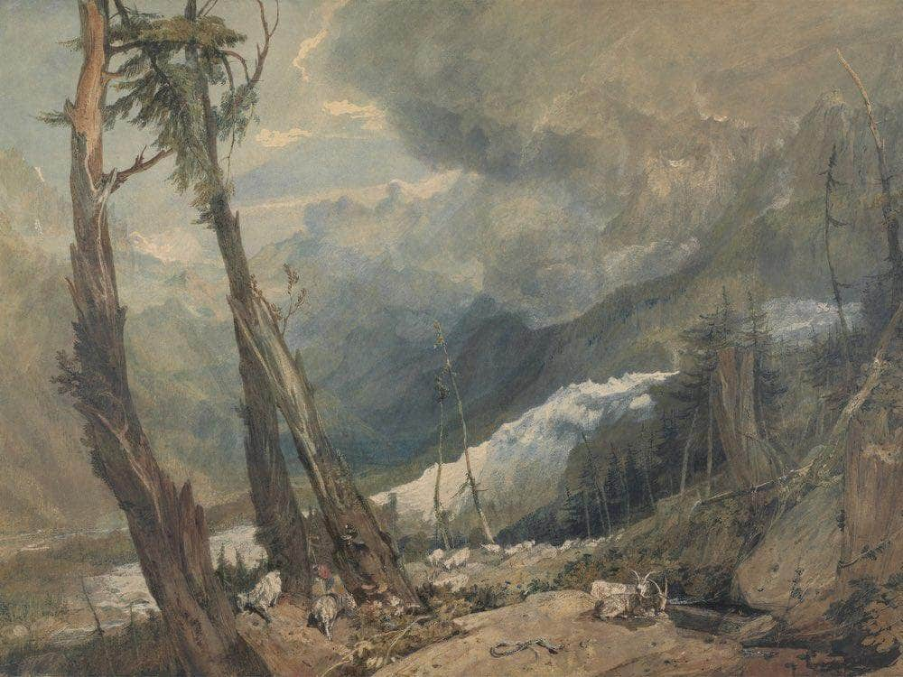 Mer De Glace In The Valley Of Chamouni Switzerland By Joseph Mallord William Turner