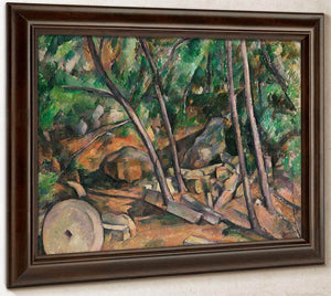 Millstone In Park Of The Chateau Noir By Cezanne Paul