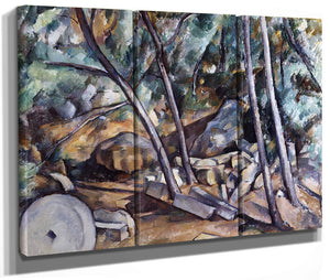 Millstone In The Park Of The Chateau Noir By Paul Cezanne