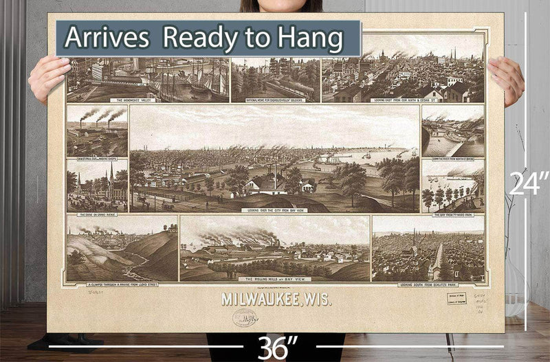 Milwaukee Wis Vintage Map