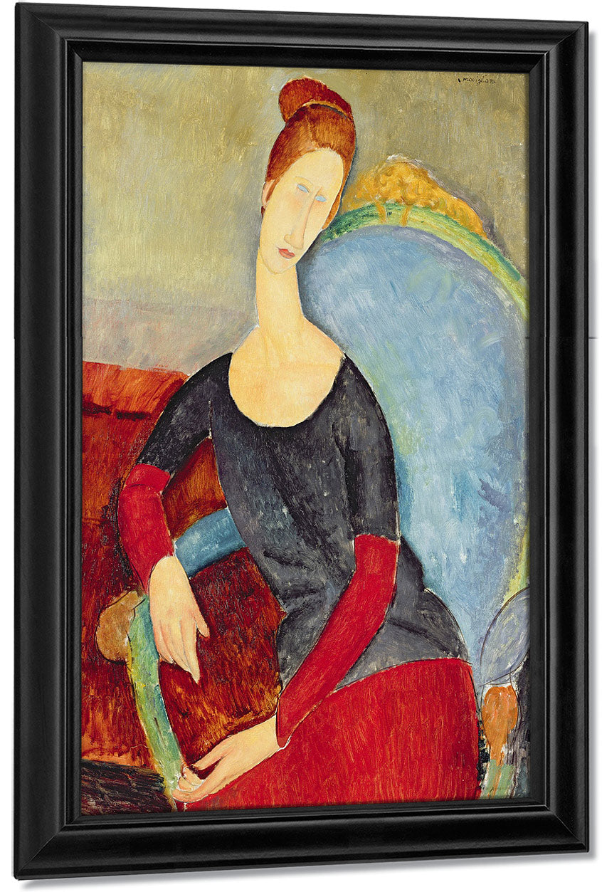 Mme Hebuterne In A Blue Chair By Amedeo Modigliani