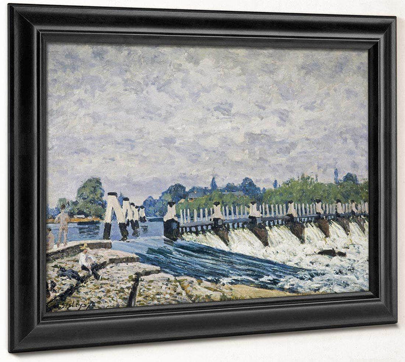 Molesey Weir Hampton Court 1874 By Alfred Sisley