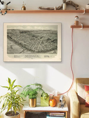 Monaca Pennsylvania 1900 Vintage Map